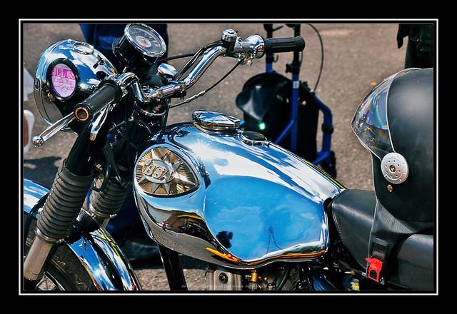British BSA Motorbike : Ribble Steam Railway Fathers Day - Classic Car Event : Nikon AF Nikkor 28-70mm f/3.5-4.5