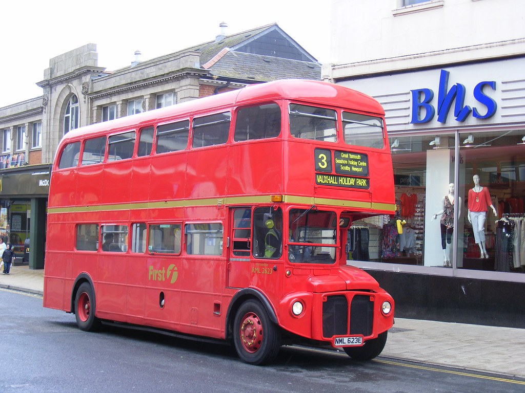 Great Yarmouth  June 2012  Routemaster of First, NML 623E RML2623