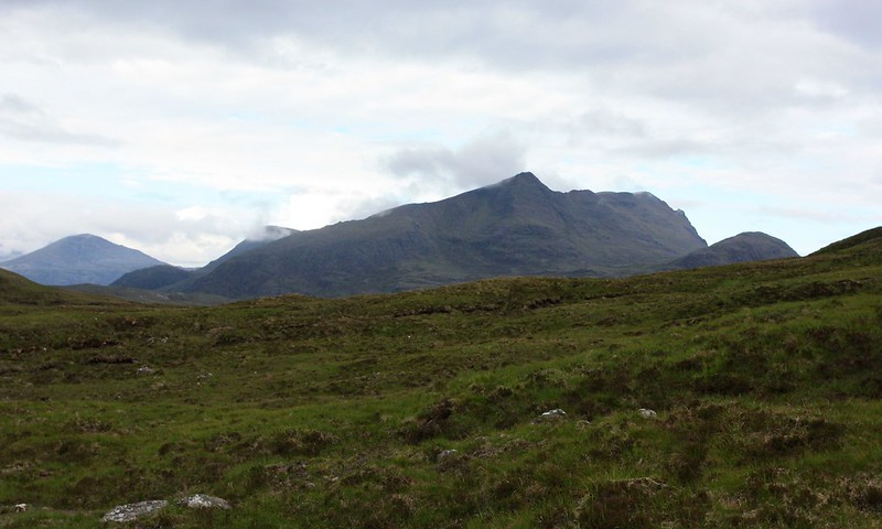 Slioch from the high ground above Lochan Fada