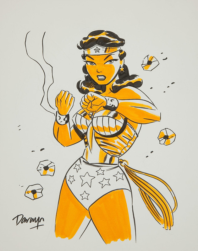 Darwyn Cooke Wonder Woman Illustration Original Art bullets braclets