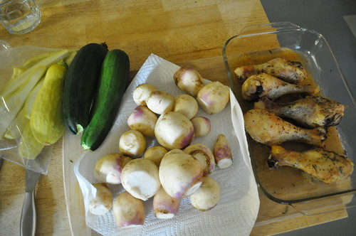 eating local :: turnips, squash, zucchini
