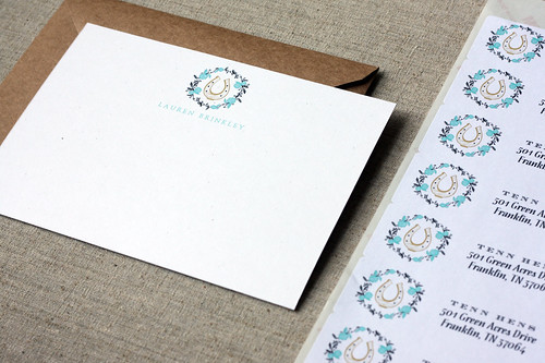 horseshoe note cards
