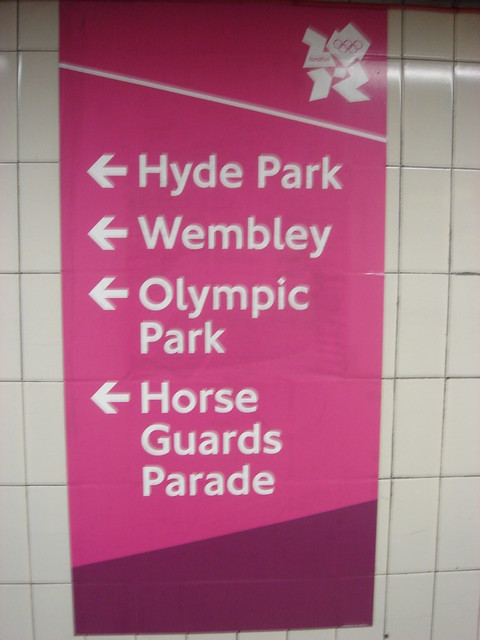 Olympic Direction Sign
