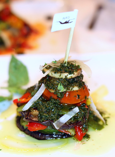 Greyhound Cafe's Grilled Vegetables Salad with Pesto Sauce