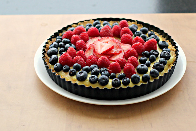 White Balsamic Custard Tart with Fresh Berry Topping | Joanne Eats ...