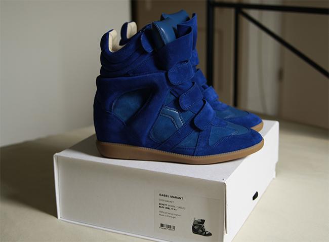 Isabel Marant blue bekett sneaker