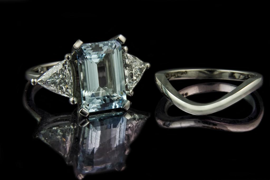 Emerald Diamond Wedding Rings 51 Spectacular Emerald Cut Aqumarine with