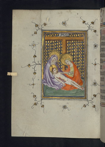 Illuminated Manuscript, Doffinnes Hours, Lamentation, Walters Manuscript W.185, fol. 79v by Walters Art Museum Illuminated Manuscripts
