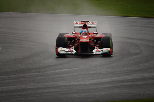 Fernando Alonso, Ferrari F1 at Silverstone Friday practice