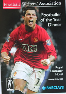 Christiano Ronaldo Football Writers Association Footballer of the Year Dinner Winner