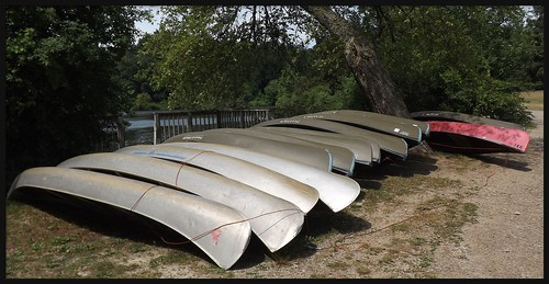 Another View of Canoes at Kingswood Lake, Kingswood School Campus