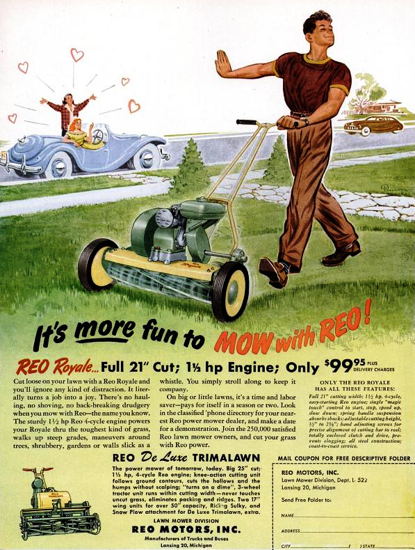Reo royale lawnmower