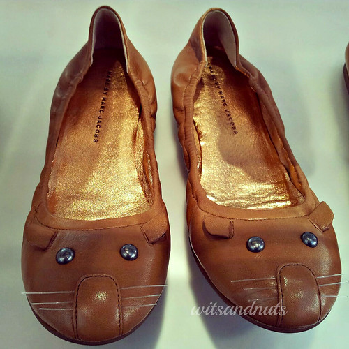 Meet my happy shoes - with smiling whiskers