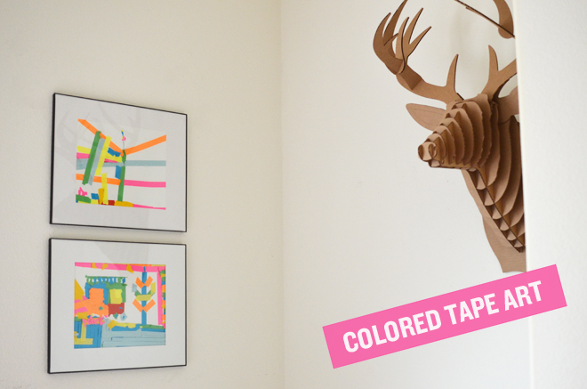 diy: colored tape art