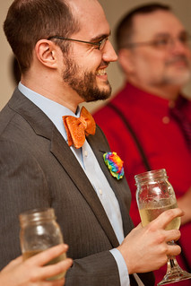 Rainbow, Bow-Tie, Mason Jar Groom