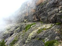 Vire de l'Andade a u Ponte : extrémité dallée de la vire sur le versant S (Campu Razzinu)