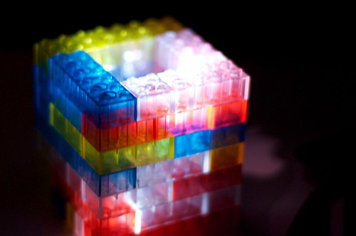 LED Powered Lego Lamp