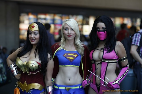Supergirl, Wonder Woman, and Mileena