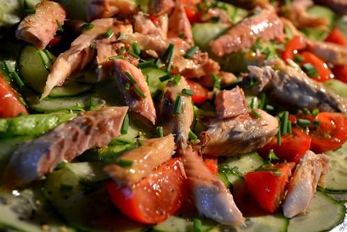 Salade estivale aux filets de maquereau l 39 eau la bouche - Cuisiner filet de maquereau ...