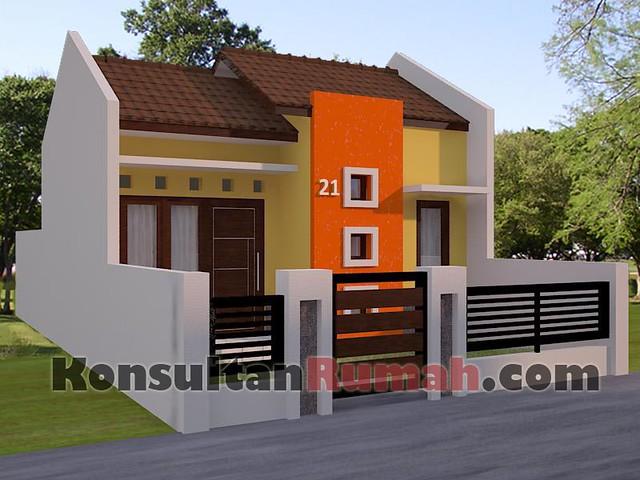 Gambar desain model denah interior arsitektur rumah minimalis modern ...
