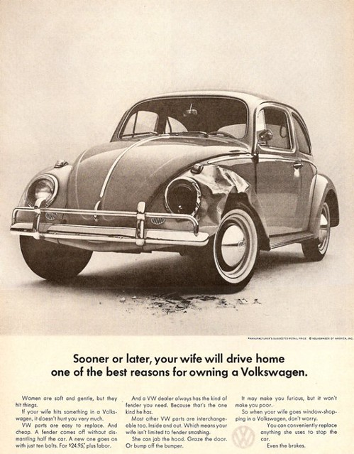 Sooner or later, your wife will drive home one of the best reasons for owning a Volkswagen