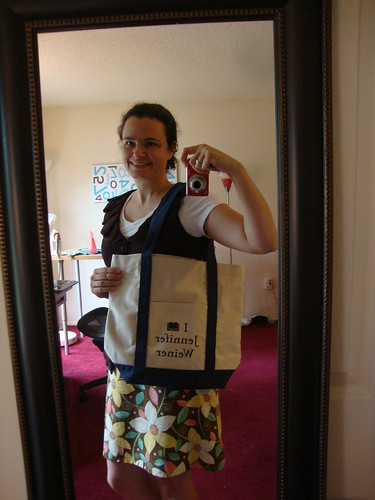Jennifer Weiner tote and what I wore