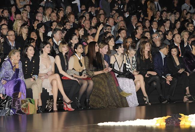 6 Front Row @ Roberto Cavalli FW1213 fashion show 27-02-2012 Milan