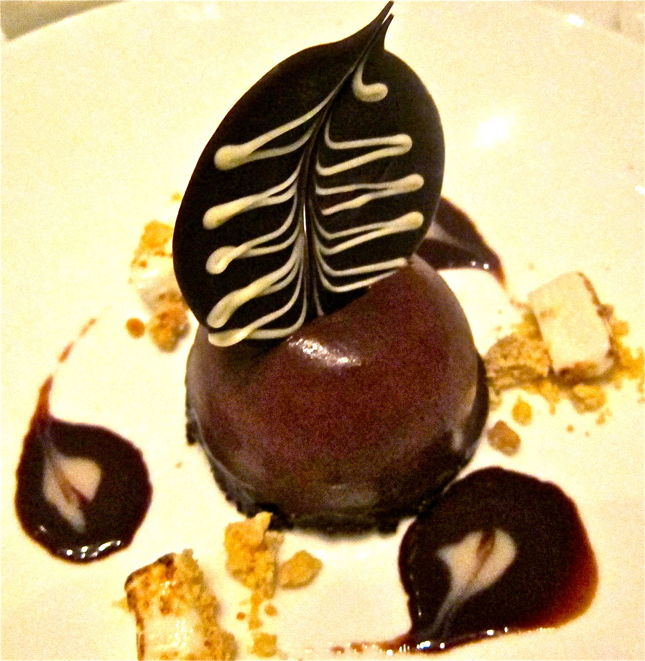 dark chocolate bombe