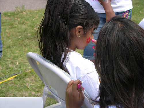 Carifest 2012 face painting red