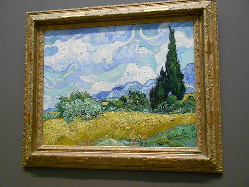 Wheat field with Cypresses. Vincent Van Gogh.