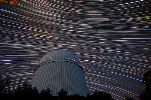 Southern and Northern Startrails over the AAT