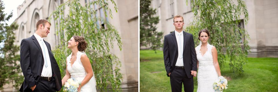 Bride and Groom Hope College Wedding