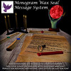 [ free bird ] Monogram Wax Seal Message System - CUSTOM SEALS NOW AVAILABLE