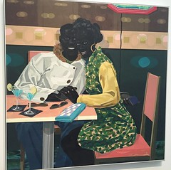 """""""Couple in the Diner"""" by Kerry James Marshall #blacklove"""