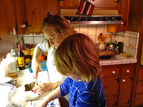 Baking X-mas cookies w/ Granny