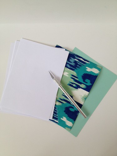 2 -  Decorative Wrapping Paper Notebook Tutorial
