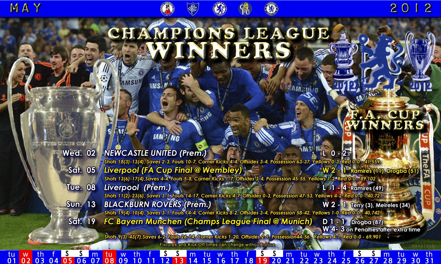 Chelsea May Fixtures 2012 | Flickr - Photo Sharing!