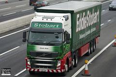 Volvo FH 6x2 Tractor - PX11 CGO - Charis Anne - Green & Red - 2011 - Eddie Stobart - M1 J10 Luton - Steven Gray - IMG_4623