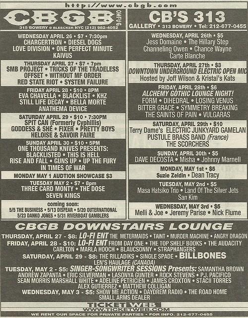04/26/06 - 05/02/06 CBGB Ad
