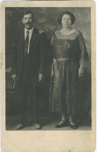 My great uncle Manuel De La O with his (2nd) wife Micaela.