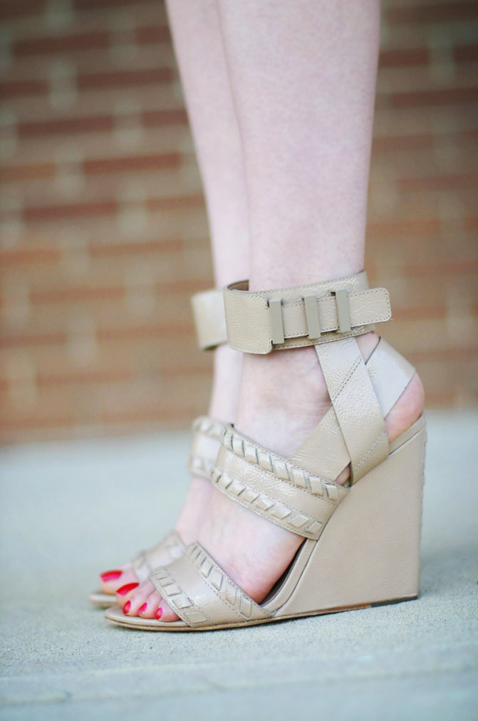 alexander wang nude wedge sandals, fashion