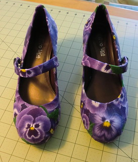 Refashioned pansy shoes