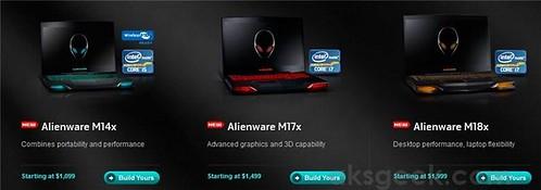 Alienware M14x, M17x, M18x pricing