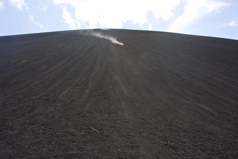 Volcano boarding, Cerro Negro, Nicaragua