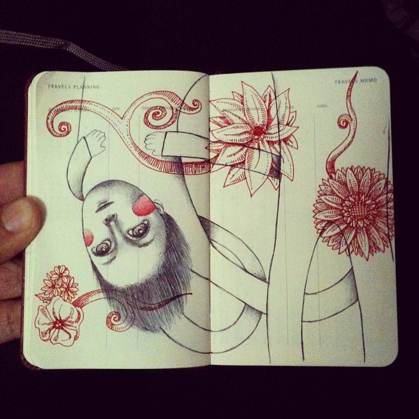 Brilliant Illustrations and Notebook Sketches by Lady Orlando