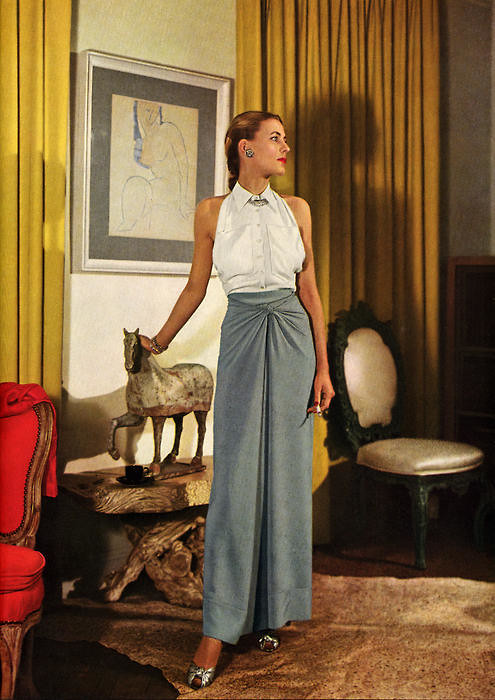 Wartime Fashion - 1944 March Vogue Style