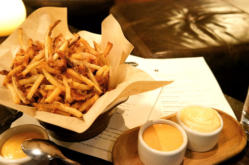 ham frites at The girl and the goat, Chicago