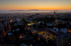Berkeley after sunset by Michael Layefsky