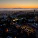 Berkeley after sunset by Michael Layefsky