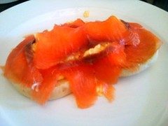 Smoked Salmon & Scrambled Egg on Muffin at Best Western Mosborough Hall Hotel